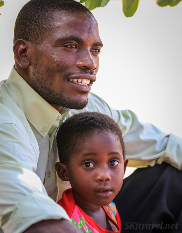 The love for one's father as a child doesn't necessarily remain through life as events may convince the boy his father is a witch. Northern Namibia.