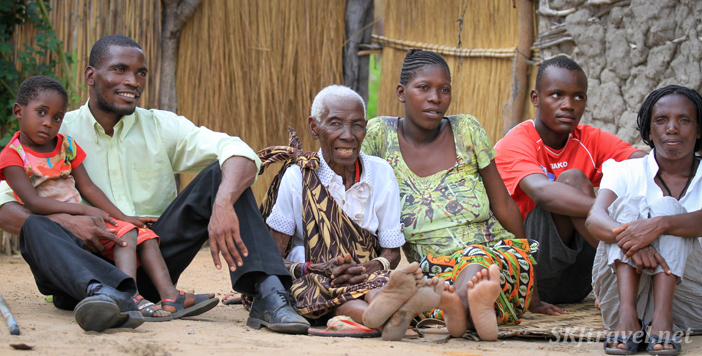 Grandma and her grandchildren who have accused her of being a witch. Northern Namibia.