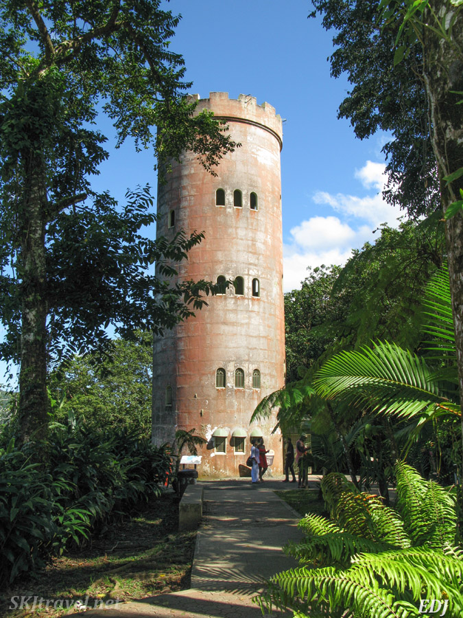 A lookout tower in El Yunque National Forest, Puerto Rico.