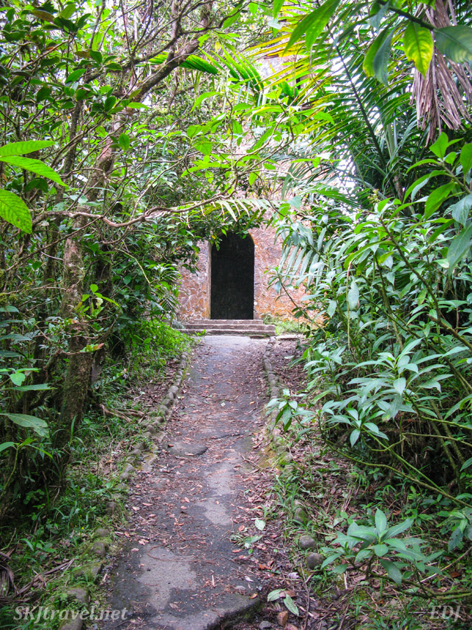 Door to a lookout tower in El Yunque National Park, Puerto Rico.