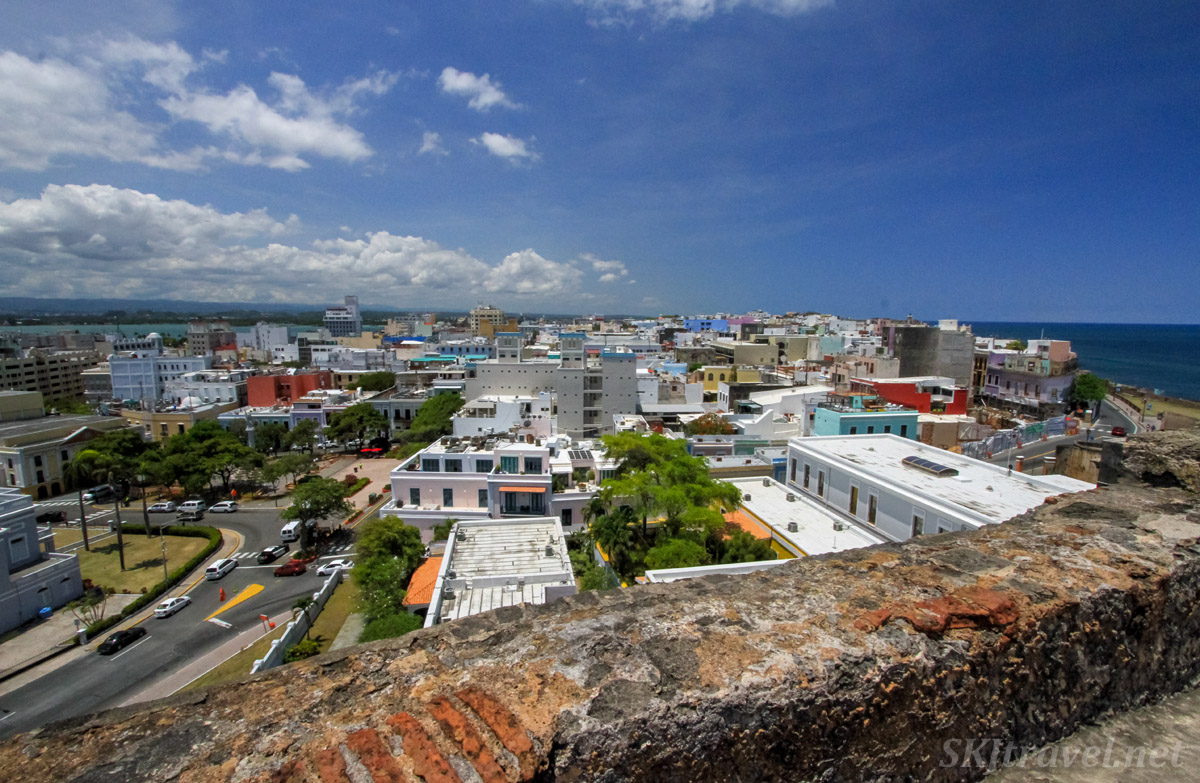 View from the fortress wall of Castillo San Felipe Del Morro, Old San Juan, Puerto Rico.