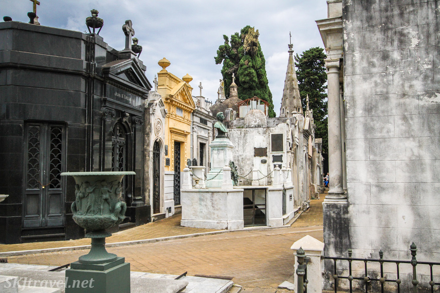 """Street"" in the city of the dead, Recoleta Cemetery, Buenos Aires, Argentina."