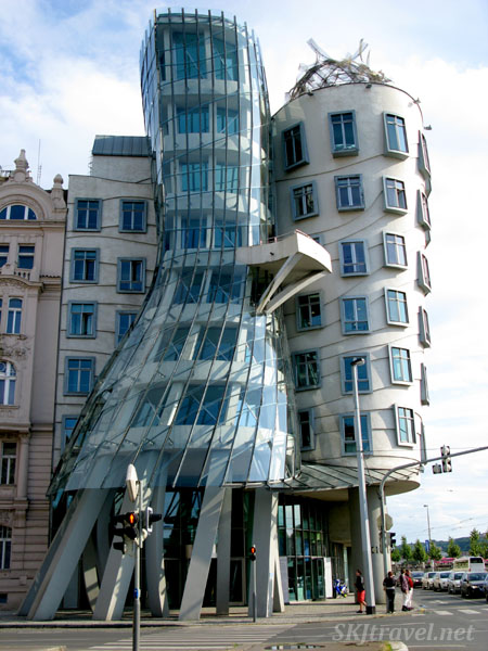 Known as the Dancing House, modern architecture in Prague.