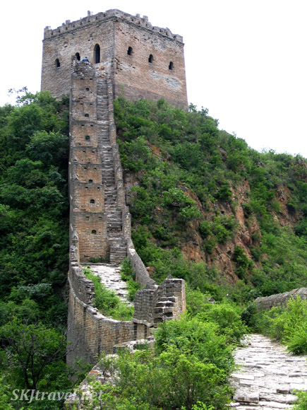 You definitely get your exercise climbing up to the watch towers along the Great Wall! China.