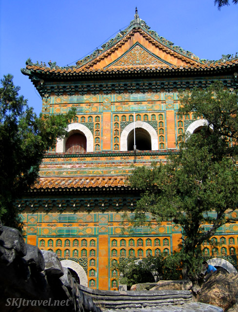 Temple near the summit of the hill. Summer Palace, China.