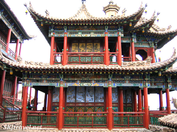 One of the temple buildings in Gao Miao. Zhongwei, China.