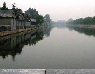 20-foot deep moat surrounding the Forbidden City in Bejing.