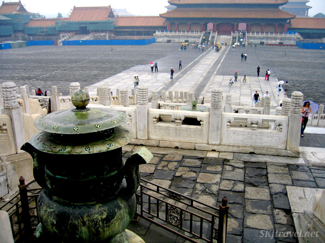 A large open space in the Outer Courtyard of the Forbidden City, Beijing.