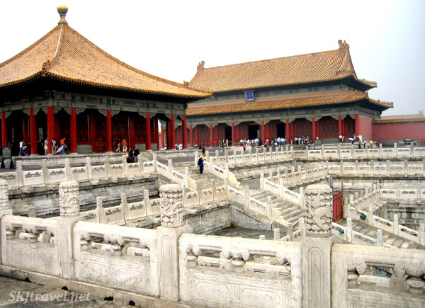 Outer courtyard in Forbidden City. Beijing.