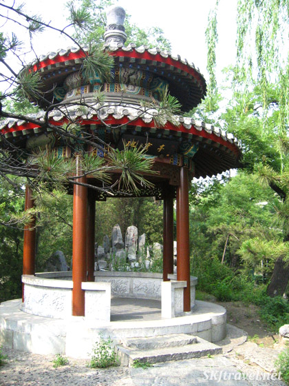 Gazebo on the grounds of Soong Ching Ling's Residence, Beijing.