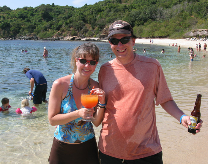Tropical drink on Ixtapa Island, Mexico