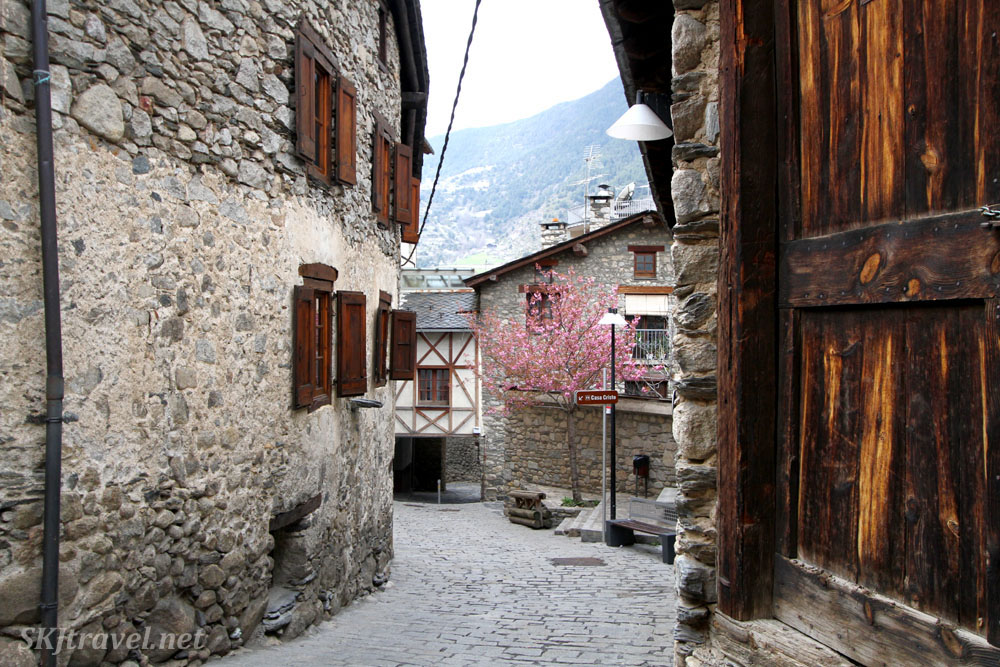 Outside the Casa Cristo Ethnographic Museum (on the left), Encamp, Andorra.
