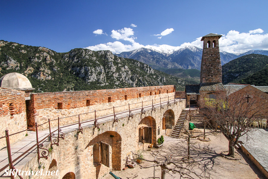 Inside the lower courtyard in Fort Liberia above the town of Villefranche de Conflent, France, in the French Pyrenees.