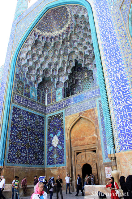 Entrance to the Imam Mosque from the Imam's Square. Isfahan, Iran.