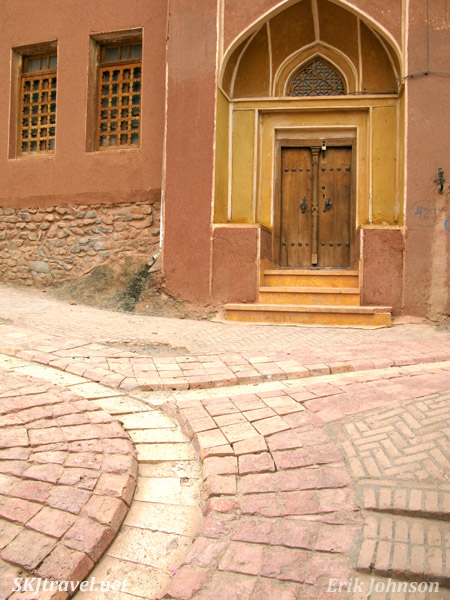 Abyaneh village, or the red village, Iran. Smooth red facade of buildings kept up in the village's tradition.