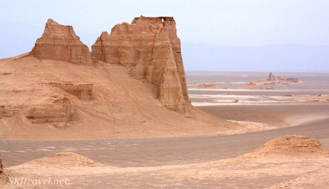 Landscape of the Kaluts natural sand sculptures outside Kerman, Iran.
