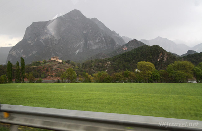 Landscape driving between Andorra and La Seu d'Urgell, Spain.