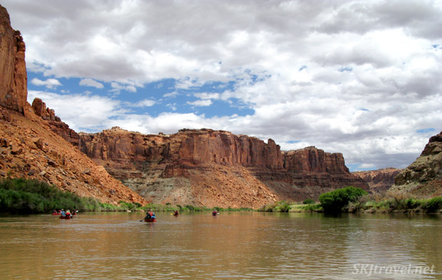 Skies clouding over on the Green River, Utah.