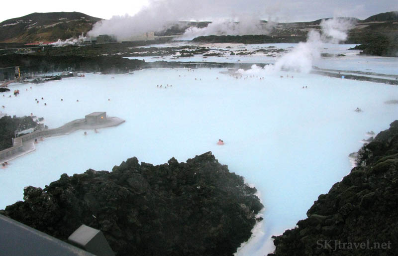 looking over geothermal spa
