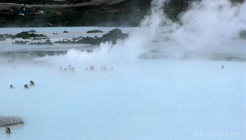 light blue geothermal pool
