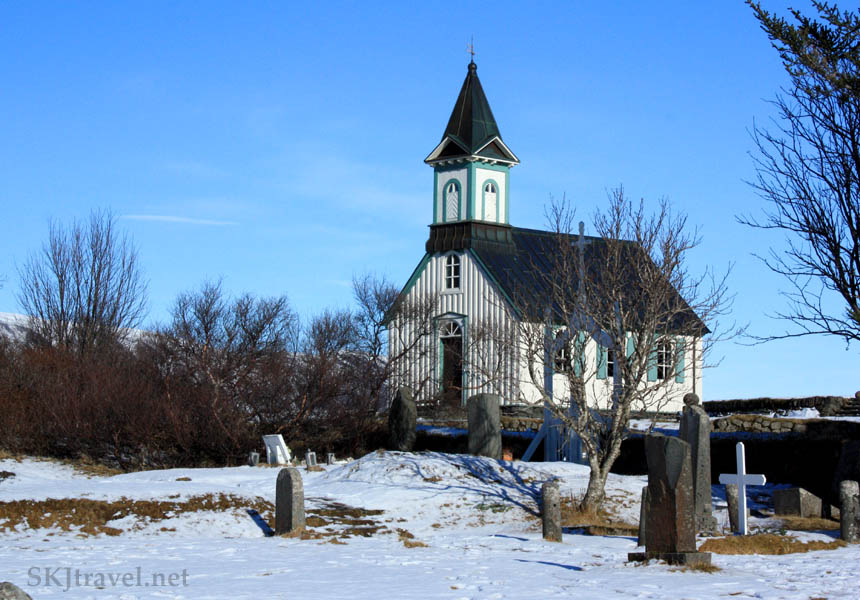 small church with graveyard