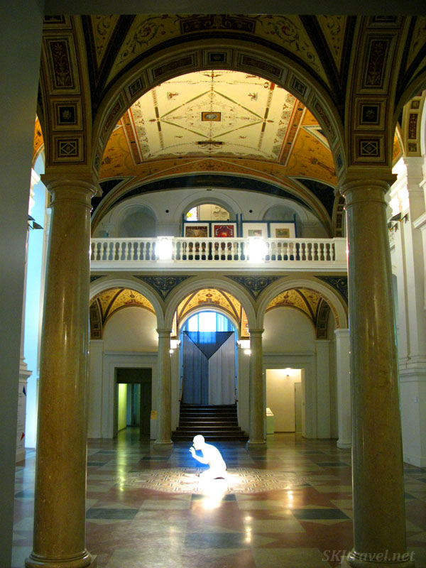 Sculpture in art museum in Brno, Czech Republic. Photo by Shara Johnson