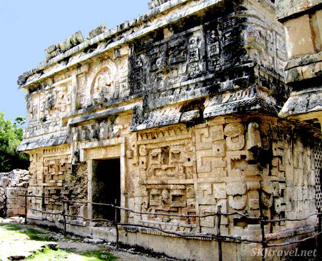 stone Mayan building
