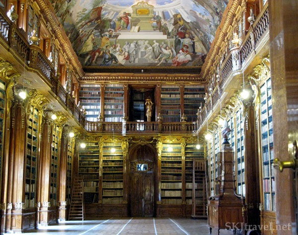 The Strahov Library lies inside a small monastery complex in Prague, Czech Republic. photo by SKJtravel.net
