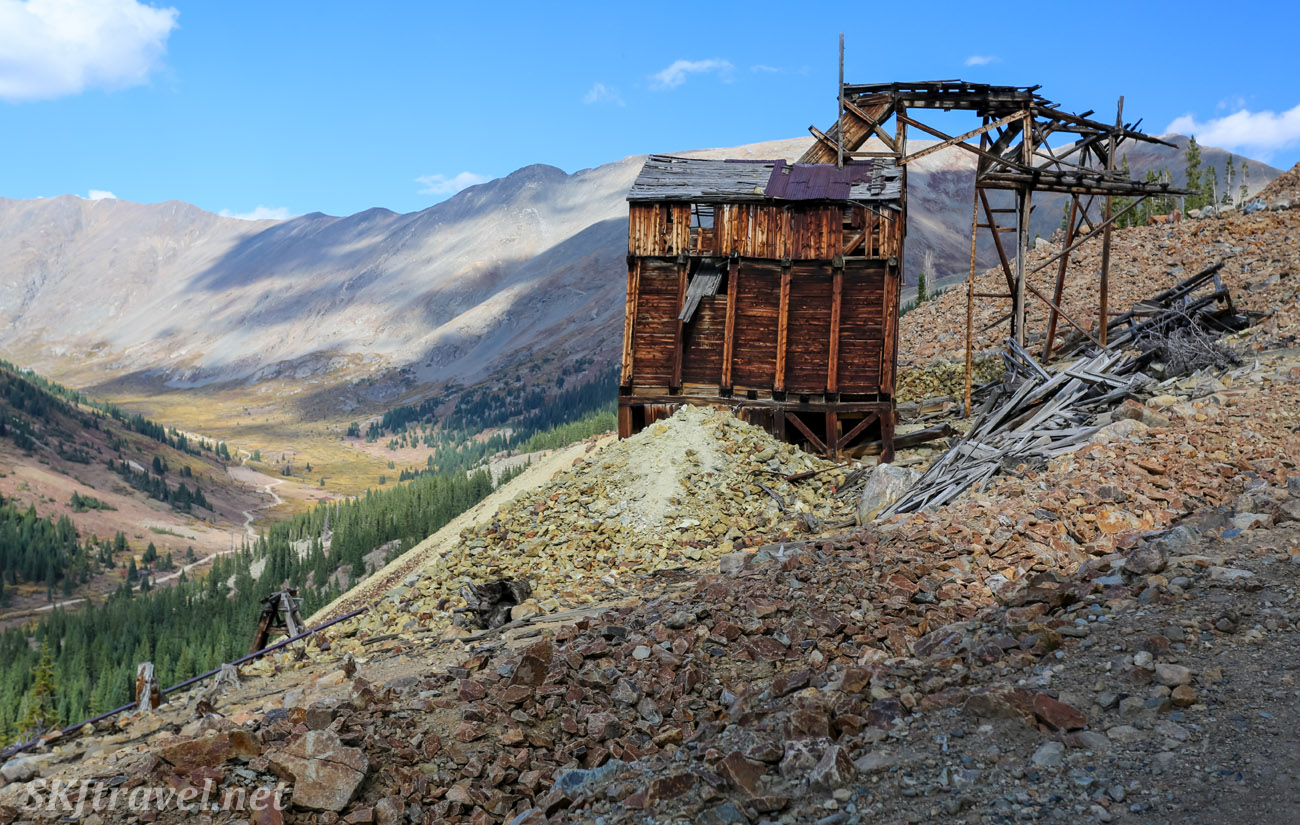 Remains of Pennsylvania Mine tram house, along Peru Creek, Montezuma, Colorado.