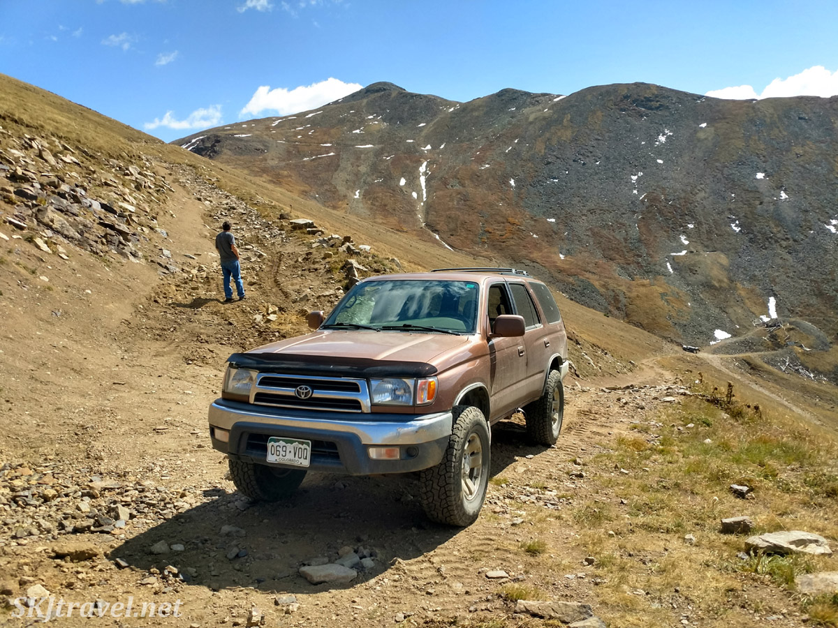 Driving up Santa Fe Peak 4x4 road out of Montezuma, Colorado.