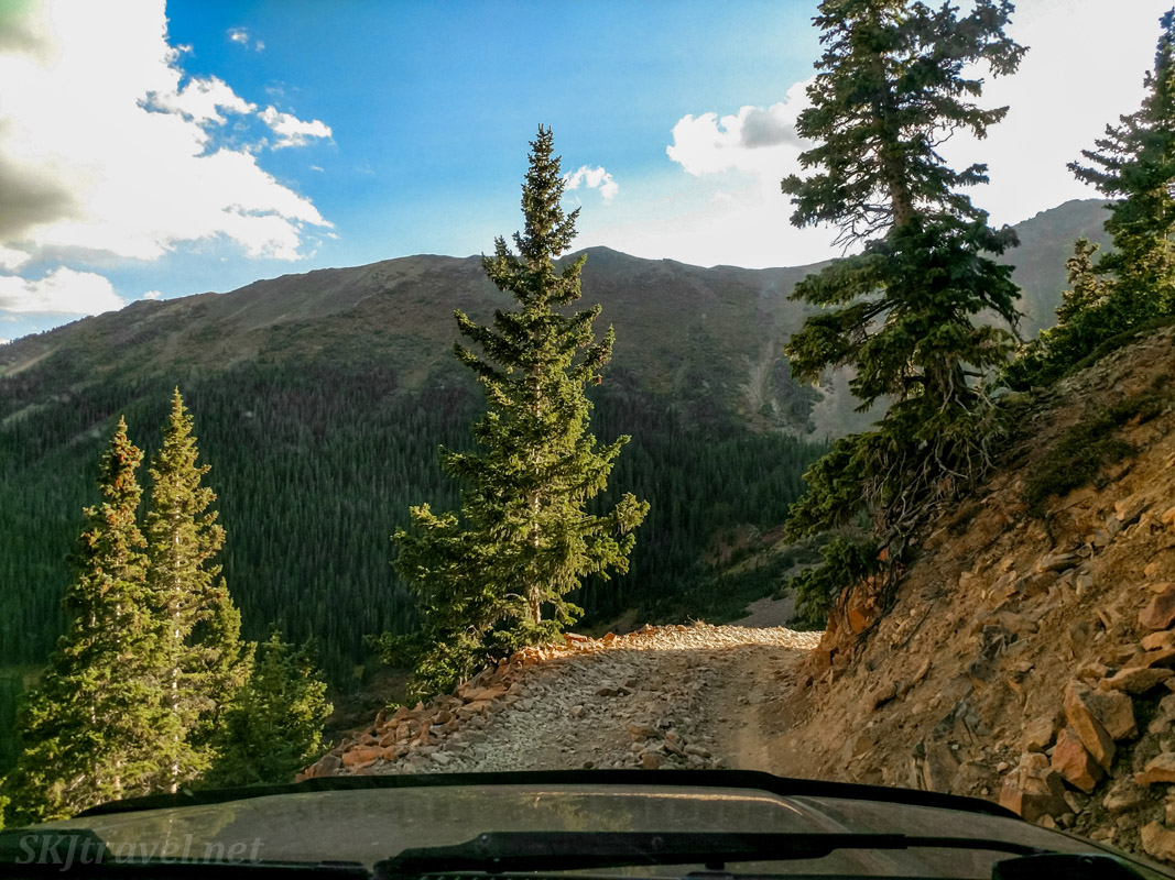 Descending the south side of Webster Pass 4x4 road. Also known as Handcart Gulch Road. Between Montezuma and Highway 285, Colorado.