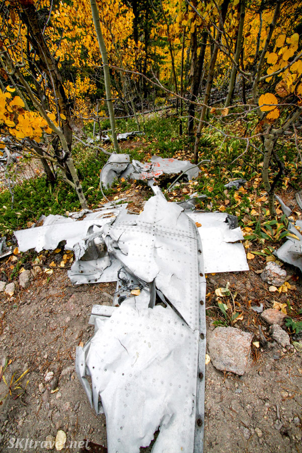 T-33 plane crash site, 4x4 trail Colorado.