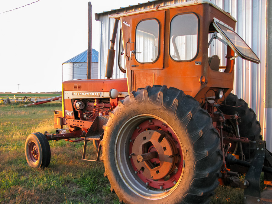 Old tractor at Clarence and Beulah Maack farm, Cozad, Nebraska.