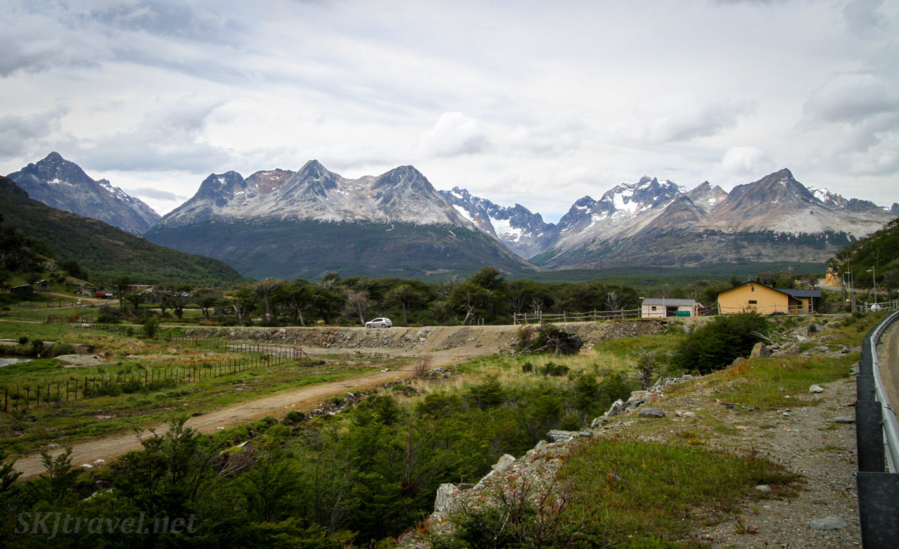 Scenery along the the Pan-American highway outside of Ushuaia, Argentina.