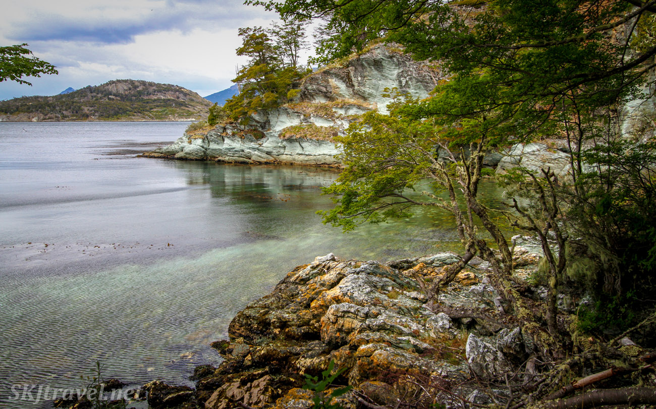 Reflections on the ocean, Tierra del Fuego National Park, Argentina.