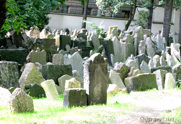 On total, thousands of gravestones are visible in the Old Jewish Cemetery, Prague
