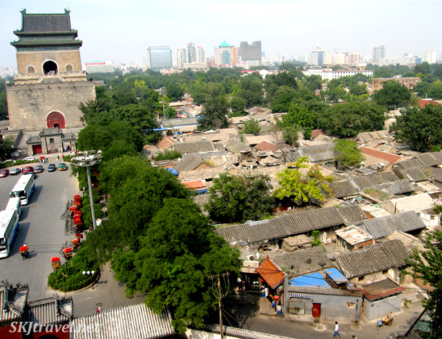 A cross-section of traditional, tourist, and modern Beijing. China.