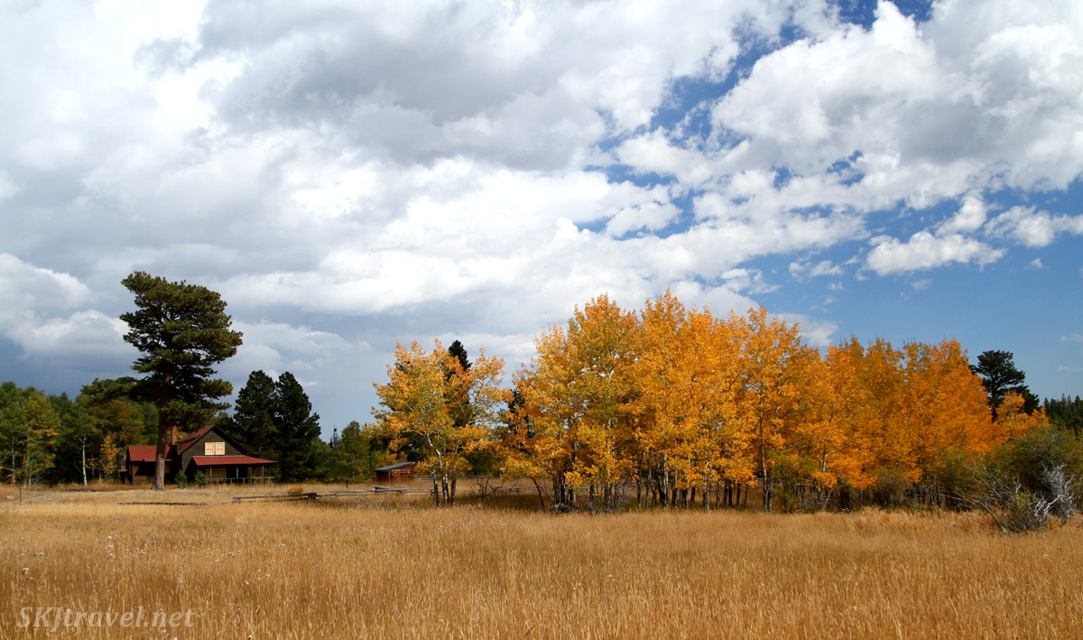 Historic farmstead in Caribou Ranch Open Space, Nederland, Colorado.