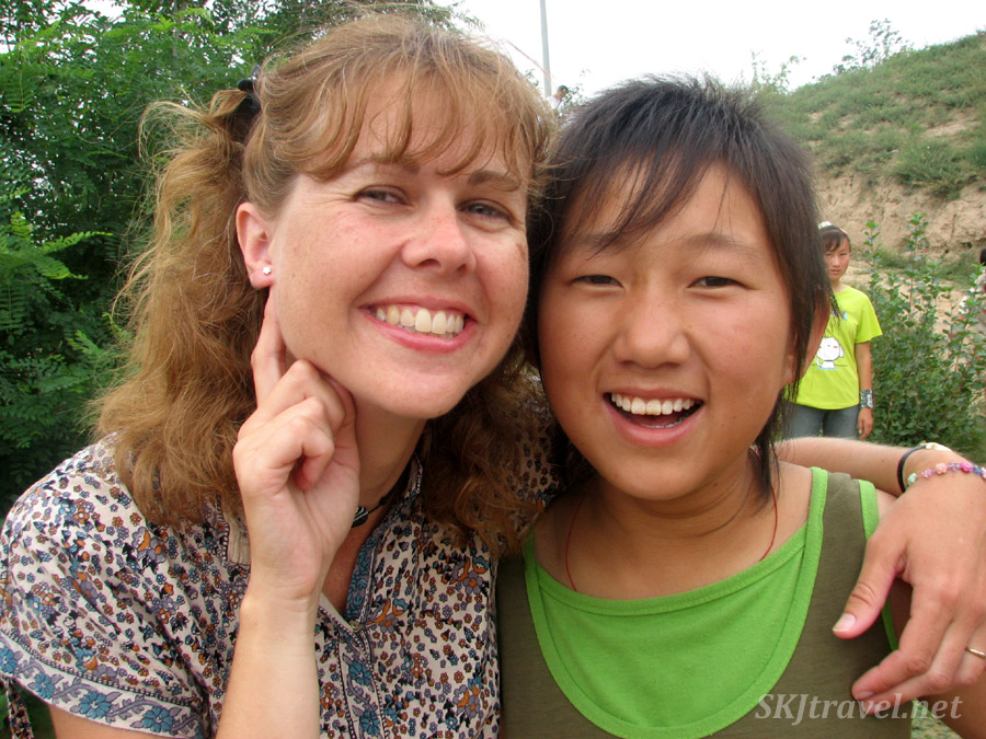 Me with Wang-Wang and the earring she gave me. Dang Jiashan village, Shaanxi Province, China.