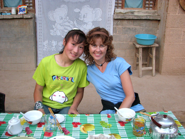 Me and Pan-Pan in Dang Jiashan village, Shaanxi Province, China.