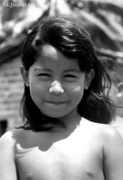 Young girl in the village of Pirabas, Brazil.