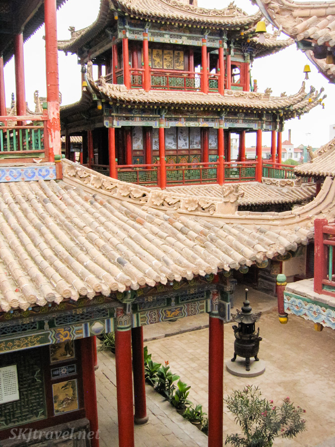 Stone roofs in Gao Miao, Zhongwei, China.