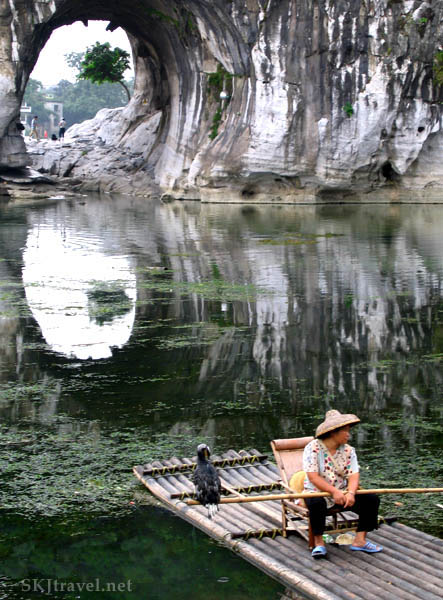 Cormorant fishing in Guilin, China.