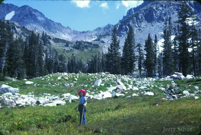 Shara as a child backpacking in the Colorado Rockies.