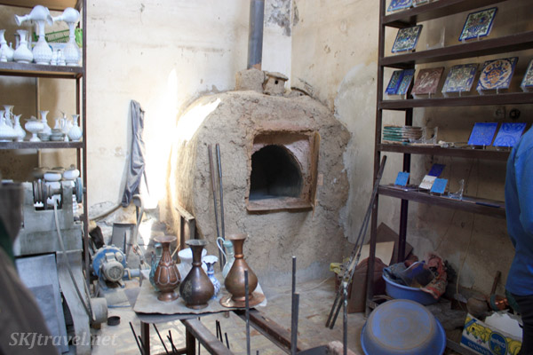 Kiln in a tile making shop, Isfahan, Iran.