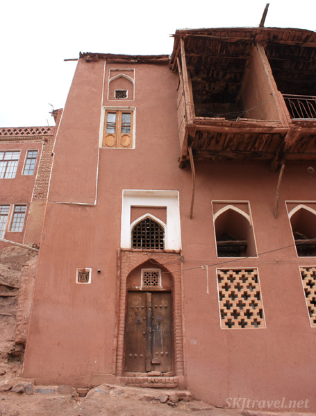 Abyaneh village, or the red village, Iran. Red facade of buildings kept up in the village's tradition.