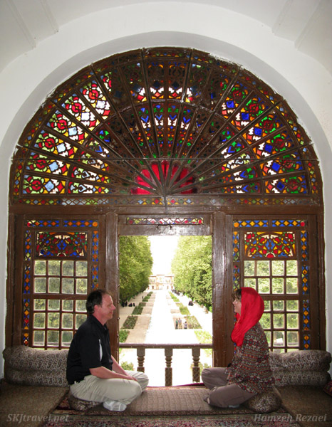 Inside the prince's private quarters at Shahzadeh garden outside Kerman, Iran.
