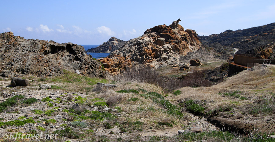 Coastline of Cap de Creus, Spain, where Dali was artistically inspired.