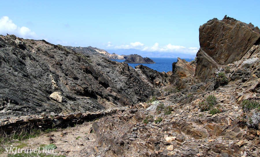 Coastline of Cap de Creus, Spain, where Dali was inspired.