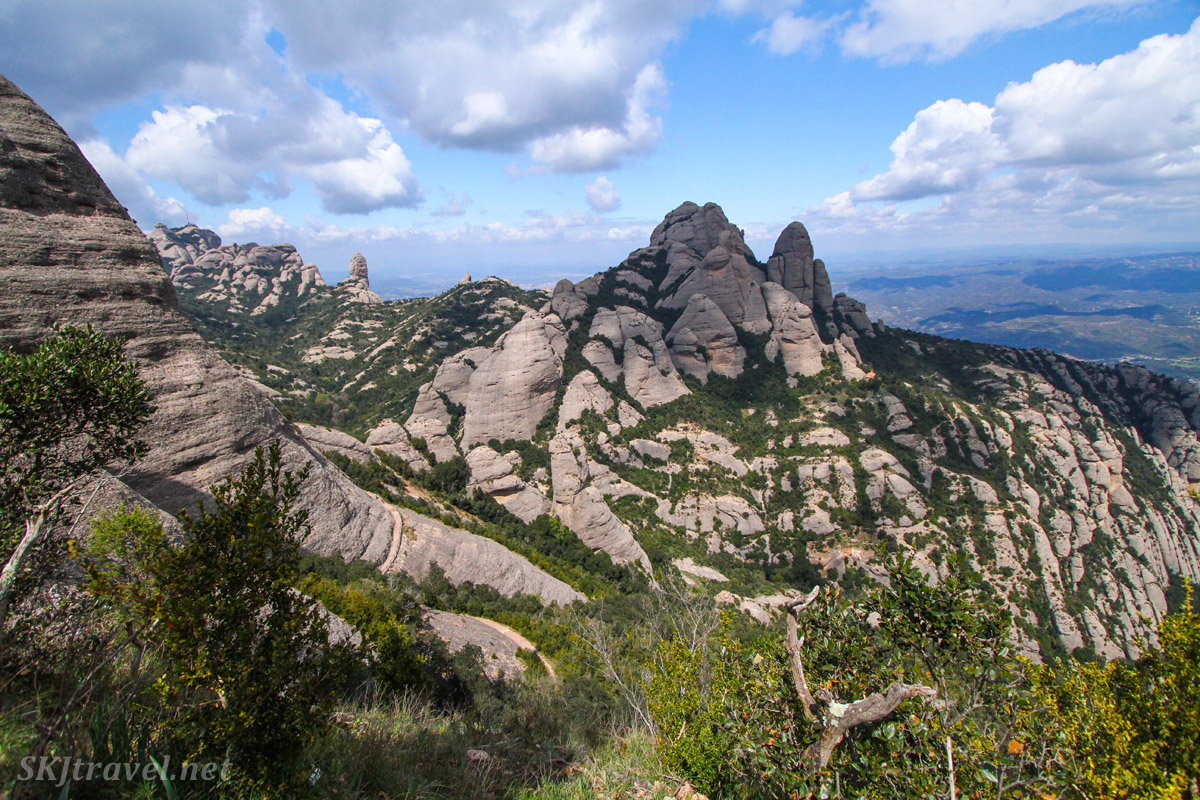 Unique rock formations of Montserrat, Spain.